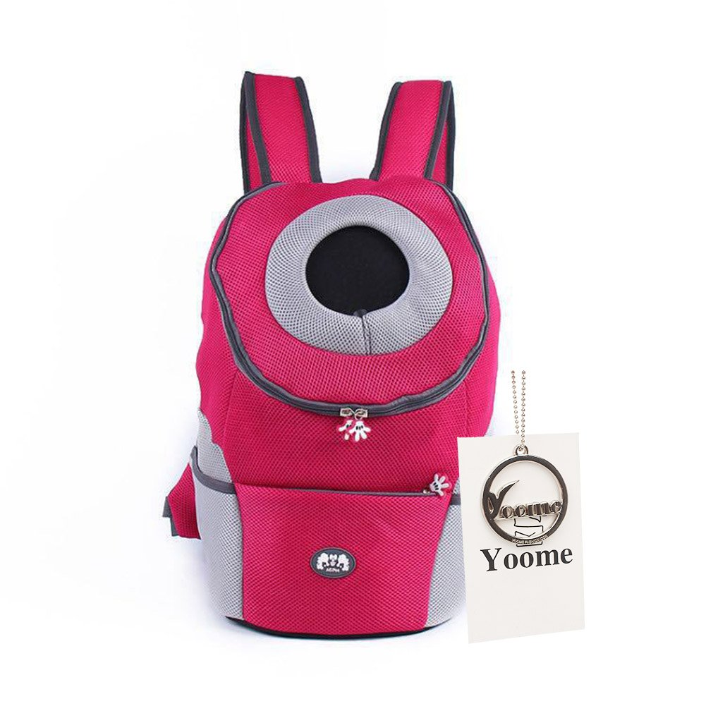 pink red XL pink red XL Yoome Latest Style Comfortable Dog Cat Pet Carrier Backpack Travel Carrier Bag Front for Small Dogs Carrier Bike Hiking Outdoor