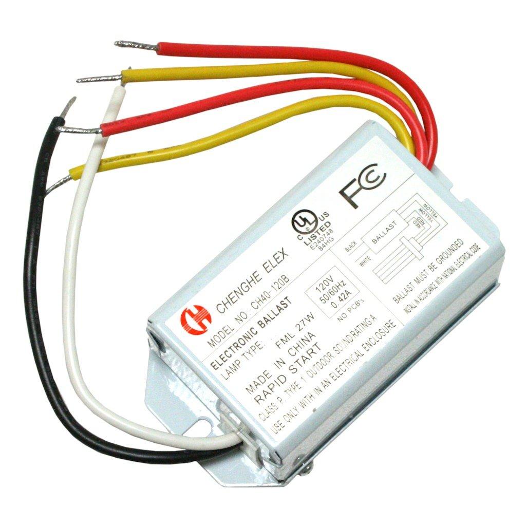 Chenghe Elex 40270 Ch40 120b Fml27 Compact Fluorescent Ballast 14 Watt Electronic Electrical Ballasts