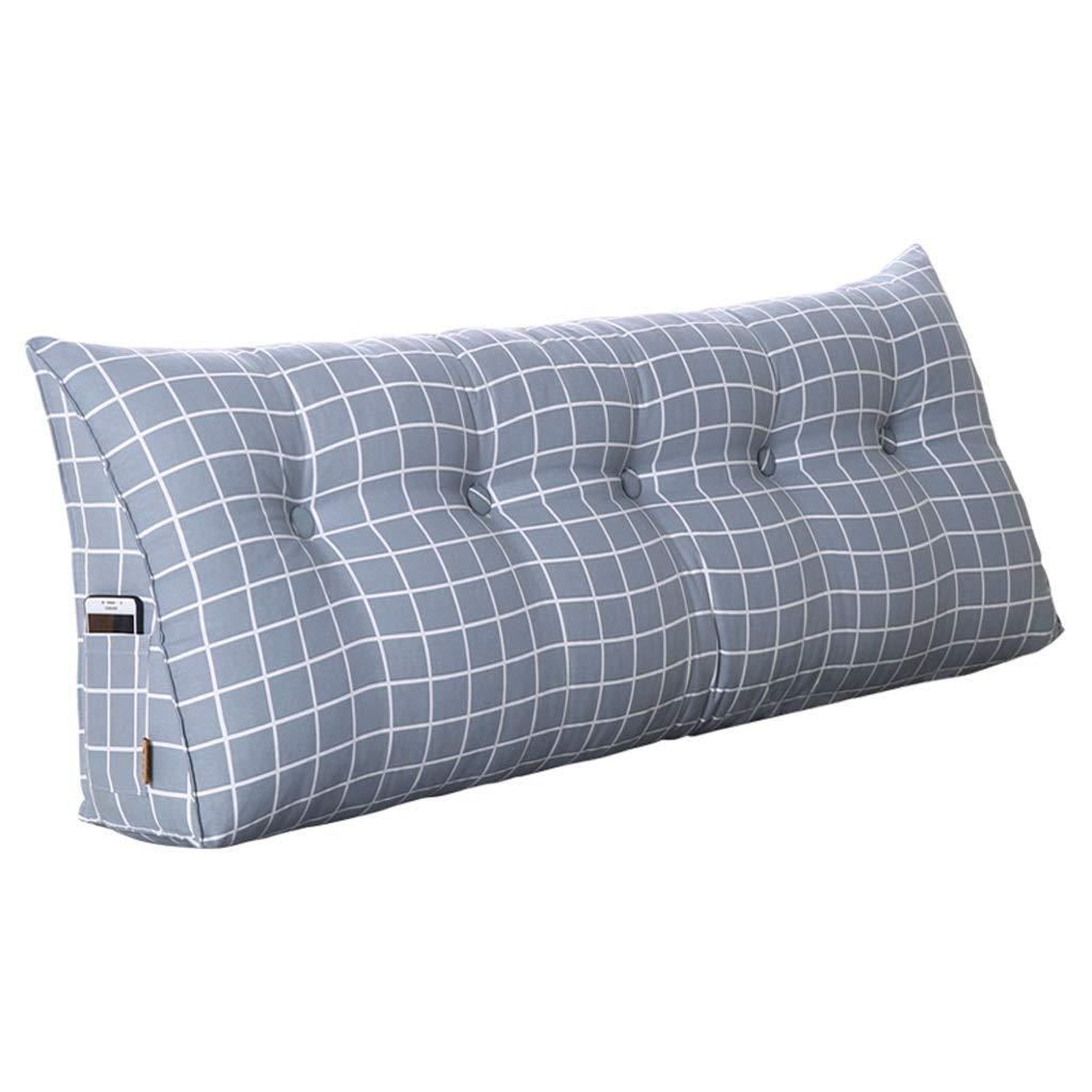 TIANYI ZHENTOU Dimensioni del cuscino del girovita del cuscino del doppio del poggiacapo del triangolo della camera da letto staccabile facoltativo MANYI