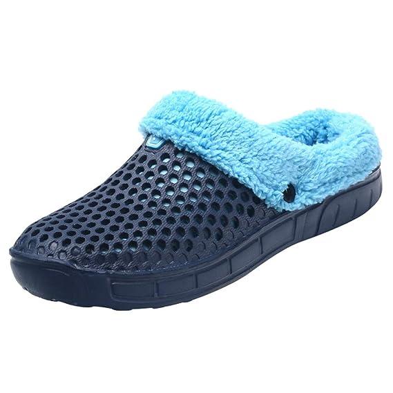 Yvelands Pareja Hombre Invierno Zapatillas de casa Mantenga Calientes Zapatos Antideslizantes en el Interior del Dormitorio: Amazon.es: Ropa y accesorios