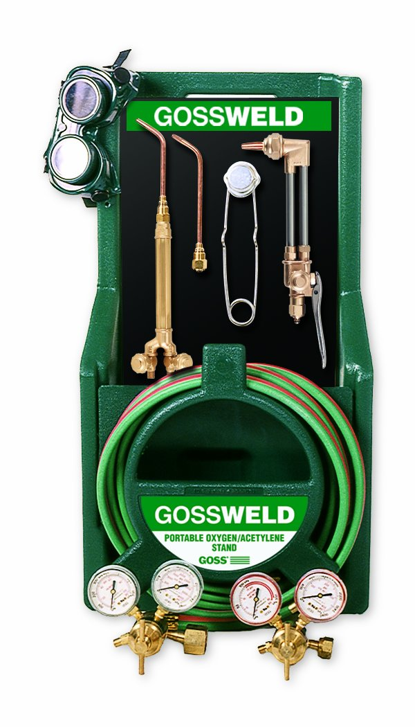 Goss KA-425-M 425 Series Oxy-Acetylene Welding, Brazing and Cutting Kit with MC Acet Regulator