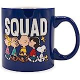 Silver Buffalo Peanuts Squad Ceramic Mug, 1 Count (Pack of 1), Black
