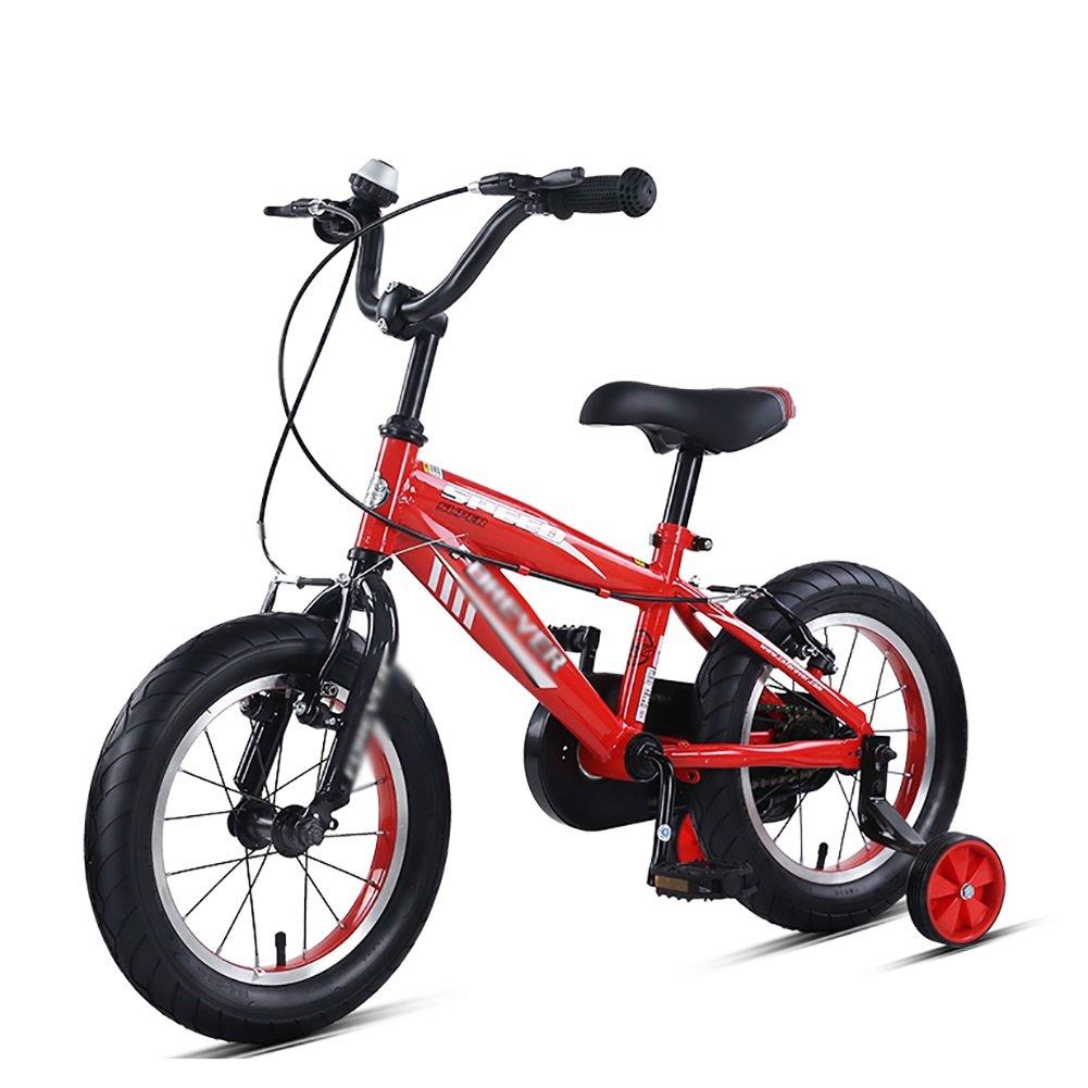 子供の自転車14 16インチ子供のマウンテンバイク3 – 5-8 Years Old Boys and GirlsペダルBikesベビーベビーカーブルーイエローレッド 14 inch レッド B07FGWKXLH