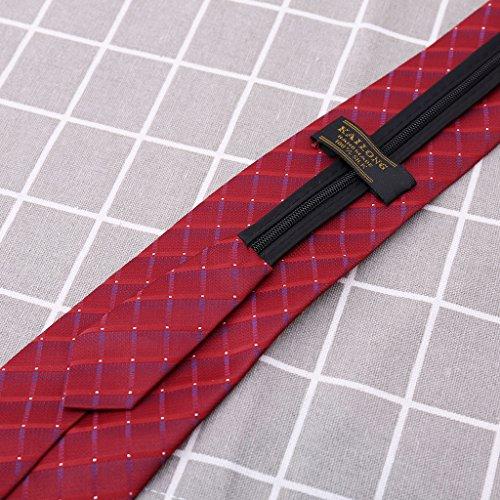 for Zipper Fabric Adjustable Pre Plaid Striped Weddings Groom Groomsmen Necktie Formal Gifts Blue Necktie Business Dot Printing Men Mens Dances Silk GUBENM tied Tie Great wxFTq8Zx