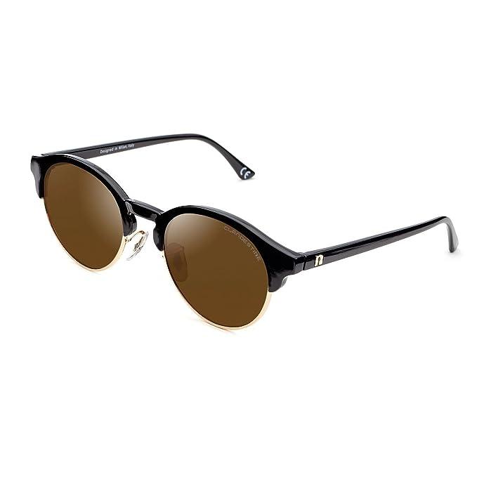 Clandestine Sferico Black Gold Brown - Gafas de Sol Polarizadas Hombre & Mujer