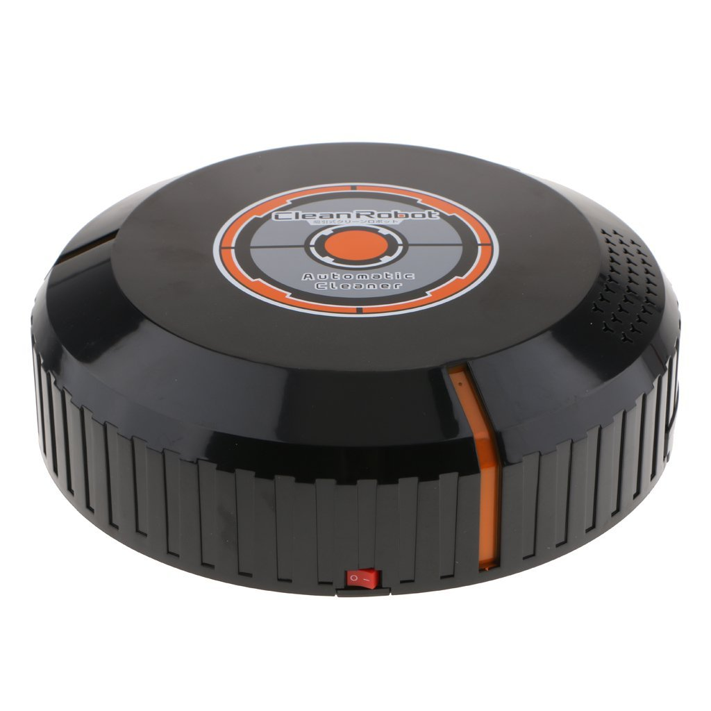 D DOLITY Auto Smart Cleaning Robot Vacuum Cleaner Automatic Dust Sweeper Black AAA Power Good for Pet Hair, Carpets, Hard Floors