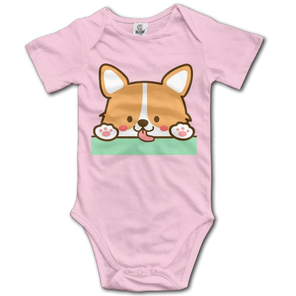 Jaylon Baby Climbing Clothes Romper Cute Corgi Infant Playsuit Bodysuit Creeper Onesies Pink