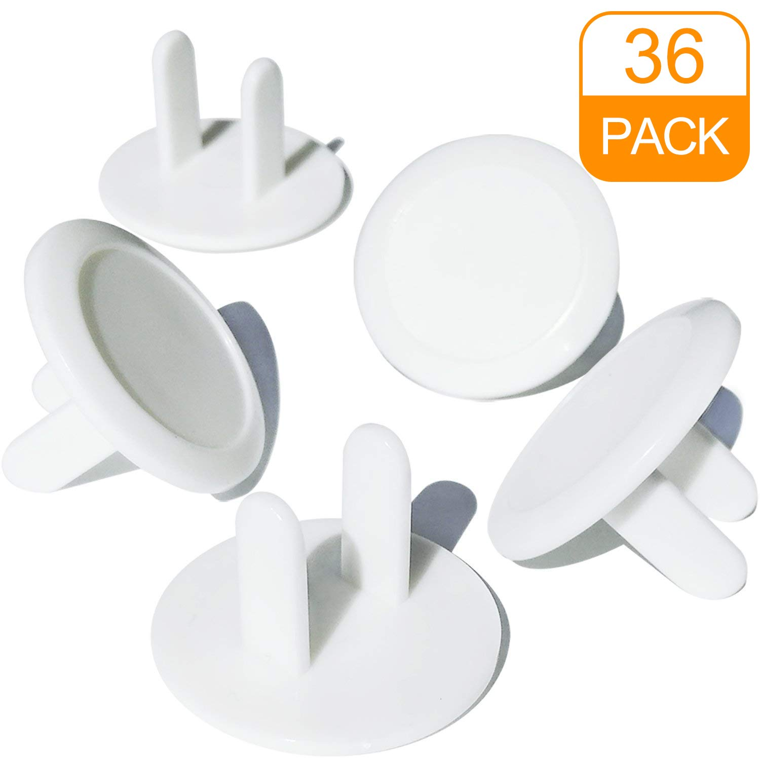 Outlet Covers, Child Proof Safety Electrical Plugs Protector, Baby Proof White Safety Caps (36Pack) by CalMyotis