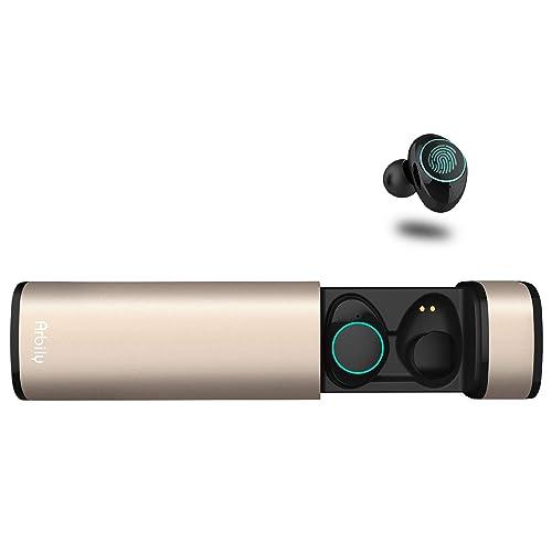 Auriculares Bluetooth Arbily Auriculares Inalámbricos Auriculares Manos Libres con Microfono y Cancelación de Ruido IPX5 Auriculares estéreo inalámbricos a Prueba de Agua con Caja de Carga