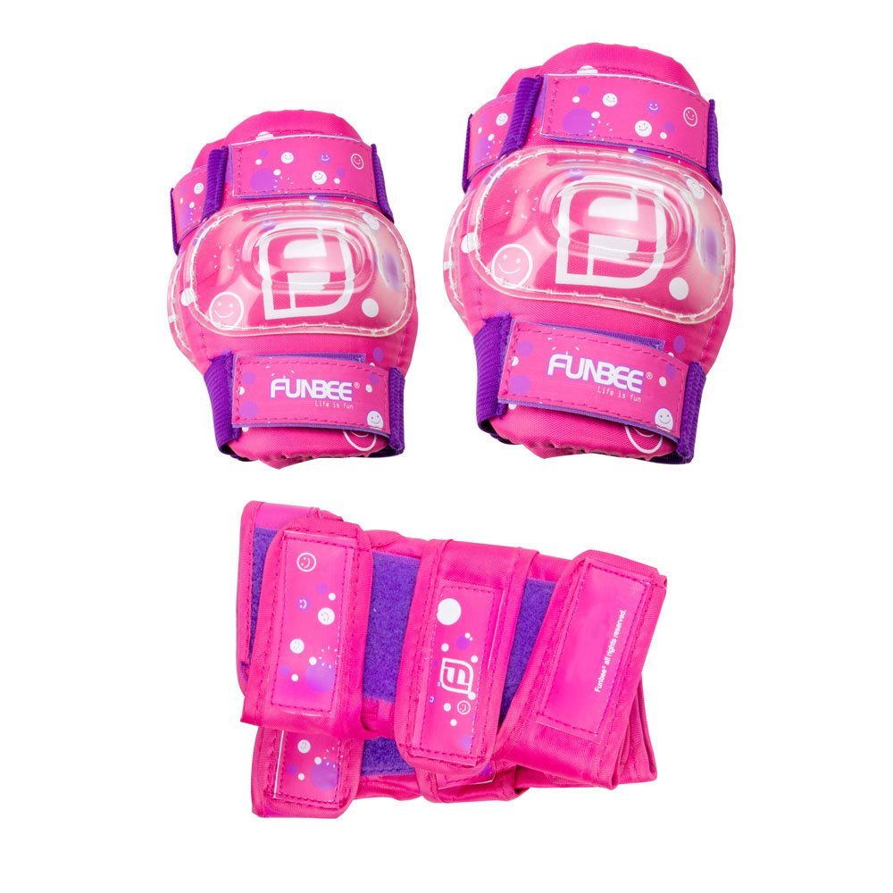 Funbee DARP-OFUN35 Pink/Purple Girl's Kid's Activities Wrist Guards/Elbow and Knee Pads Protection Set (X-Small/Small)