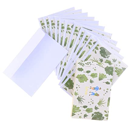 Conjunto de 10pcs Tarjetas de Cumpleaños Notas de Agradecimiento ...