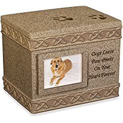 Angel Star 5-Inch Pet Urn for Dog, Dark Brown