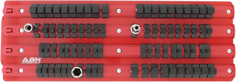 1//2in Drive Portable Socket Rail 3//8in 80pc Socket Holders Organizers for 1//4in ABN Socket Organizer Tray