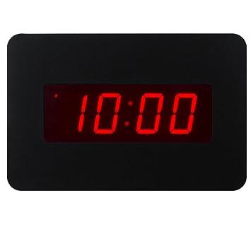 ChaoRong Reloj despertador con LED digital Reloj de pared solo para el dormitorio con batería (Negro): Amazon.es: Juguetes y juegos