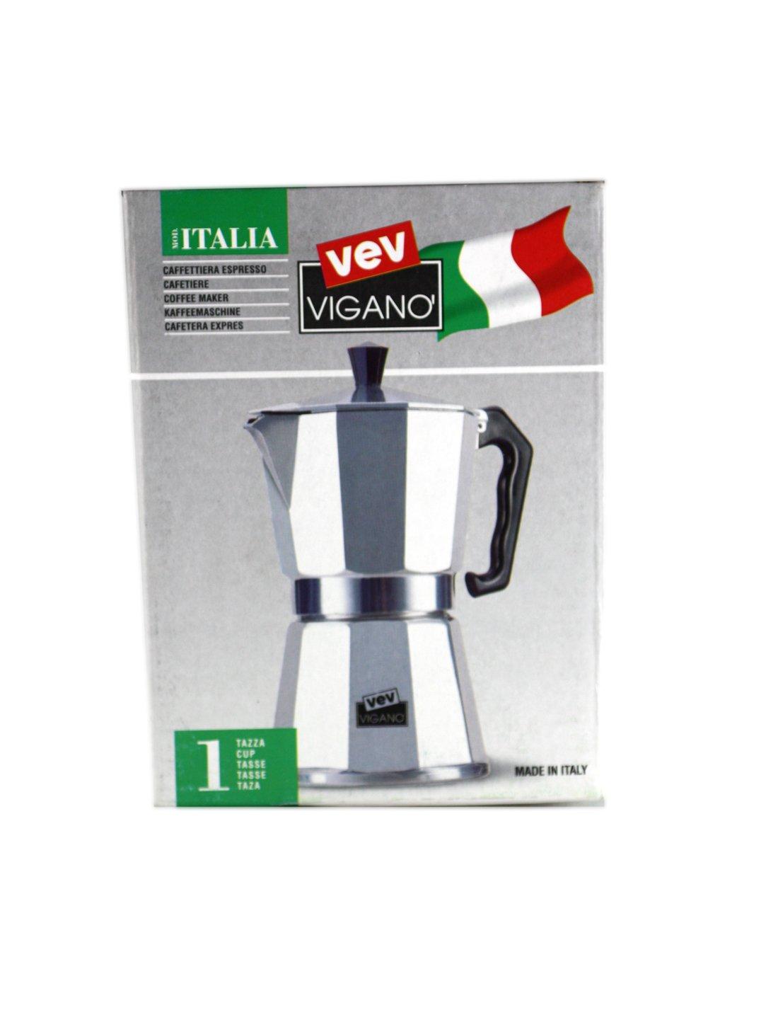 Vev Vigano Italia Herd Espressokocher 1 Tasse / Hergestellt IN Italien!