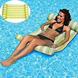 AILUOR Swimming Pool Beach Floating Water Hammock Lounge Chair, Inflatable Water Rafts Floating Bed,Floating Chair,Water Sofa,Inflatable Swimming Pool Lounger Chair for Adult and Kids (Green)