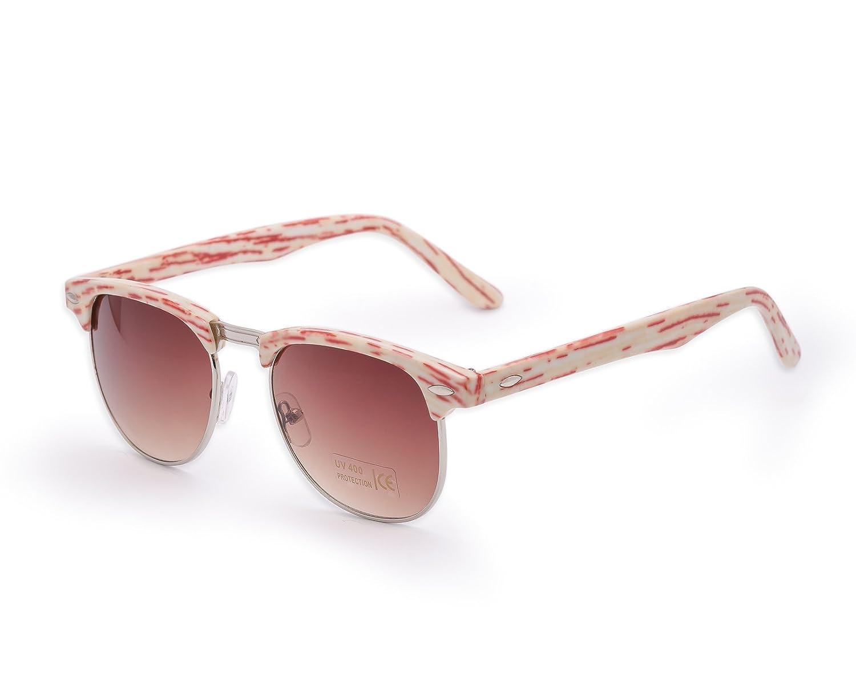 NEW Fashion Sonnenbrille UNISEX (Damen Herren) Retro Vinatge Spiegel Aviator Mirror Round Brille SUNGLASSES