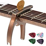 TANMUS 3in1 Guitar Capo for Acoustic and Electric Guitars(with Pick Holder and 4Picks),Ukulele,Guitar Accessories