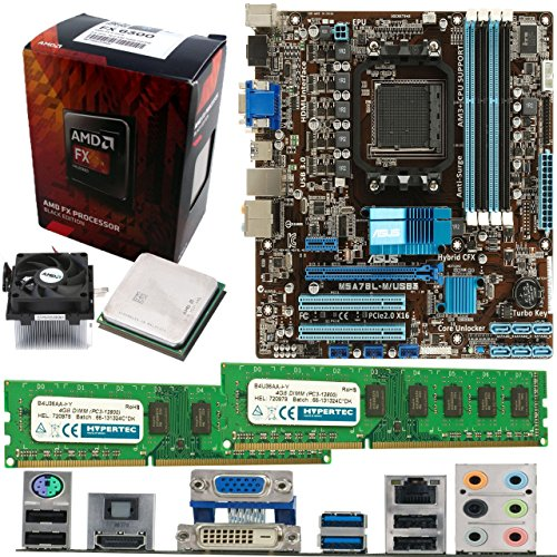 AMD Bulldozer FX-6300 6 Core 3.5Ghz, ASUS M5A78L-M USB3 Motherboard & 8GB...