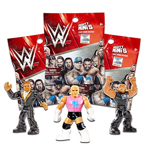 WWE Mattel Wrestling Mighty Mini's Figure Surprise Mystery Pack SERIES 1 Set of 3