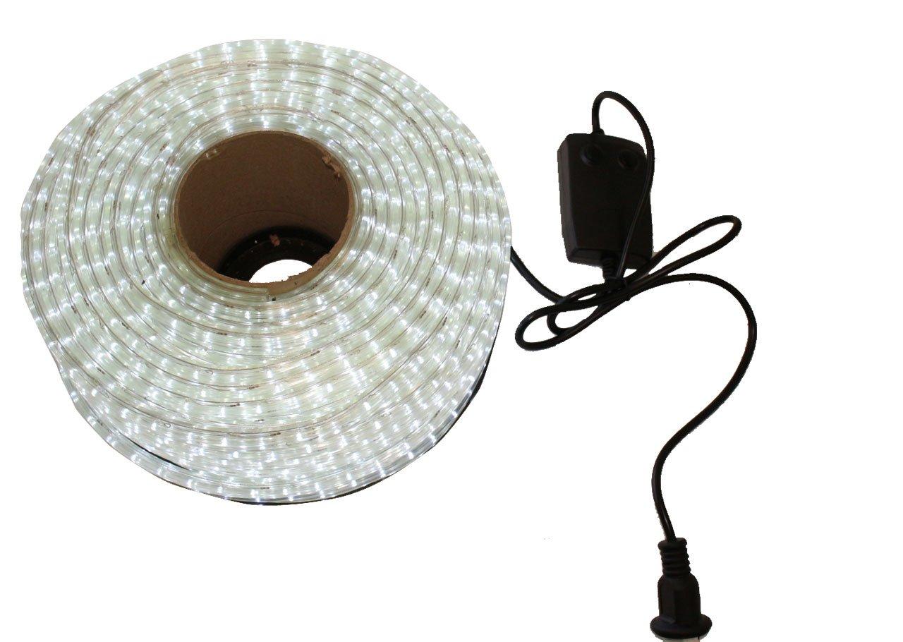 LED イルミネーション 3芯 角型 ロープ ライト 2500球 ( 50m ) ホワイト 白 点灯 パターン 28 種類 コントローラー 付 PSE 取得品 防水 B01KK2YS5A 16000