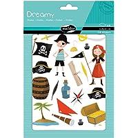 Maildor AE136O verpakking met 6 vellen stickers Dreamy in formaat DIN A5, 14, 8 x 21 cm, ideaal voor kinderen vanaf 2…