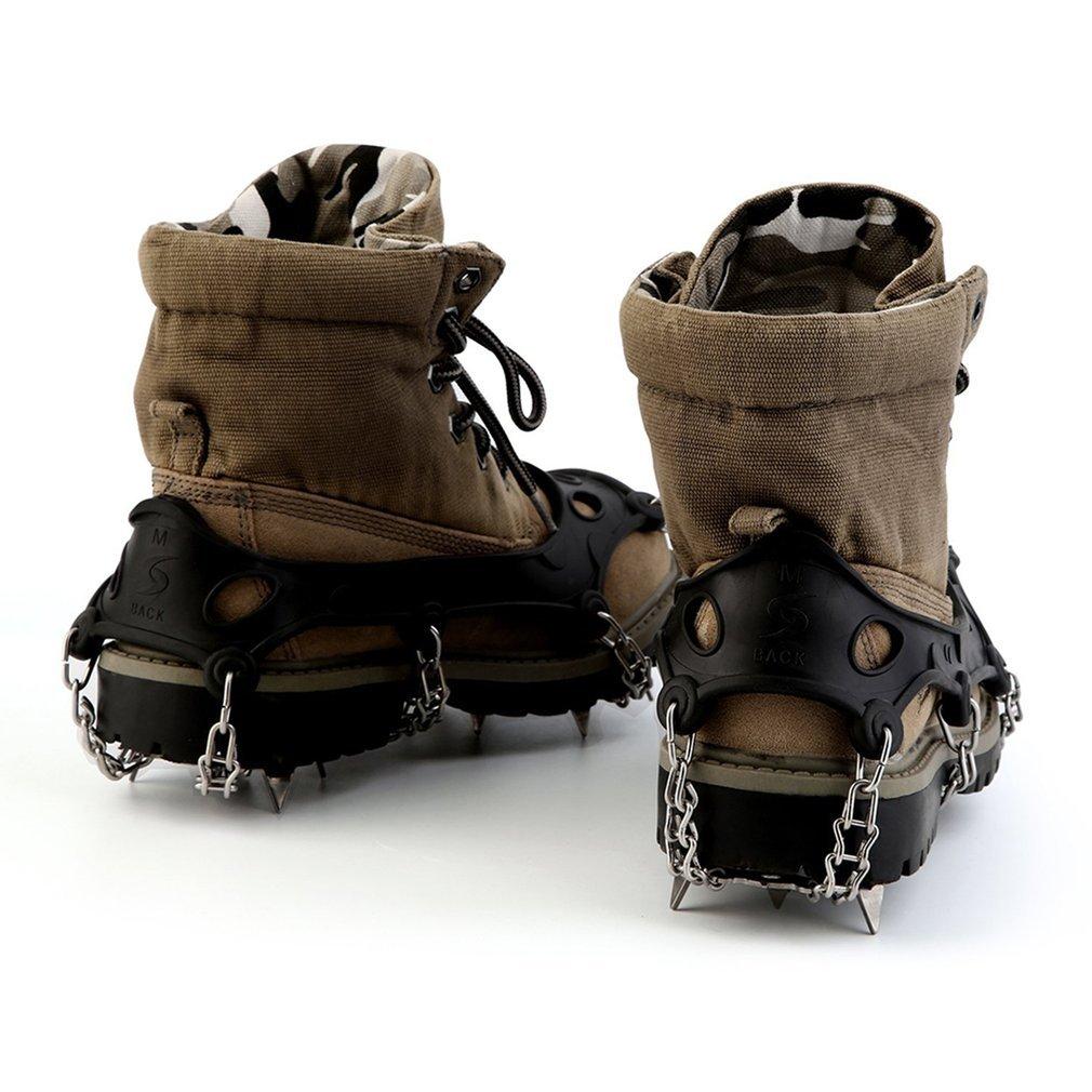 migvela crampones antideslizante zapatos tacos de 18 dientes para invierno senderismo escalada senderismo nieve y hielo: Amazon.es: Electrónica