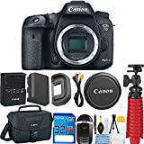 Canon EOS 7D Mark II Digital SLR Camera (Body Only) + 32GB SD Memory Card + Memory Card Reader + 12'' Flexible Tripod + Camera Case + Deal-Expo Starter Cleaning Kit