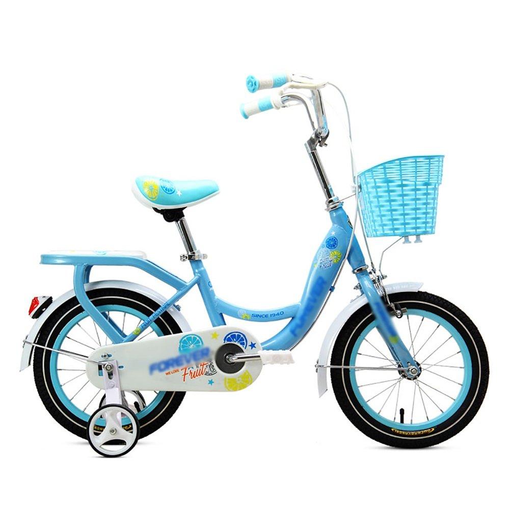 子供の自転車ベビーペダル自転車2-3-4-5-6歳の少年と少女の幼児自転車のベビーカー子供の自転車12 14 16 18インチのブルーグリーンピンク B07DWL4Y2T 18 inch|青 青 18 inch