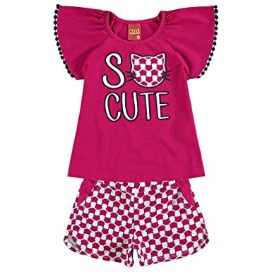 219e0a39ed Conjunto Infantil Feminino Blusa + Short Kyly 109348.40007.6  Amazon ...