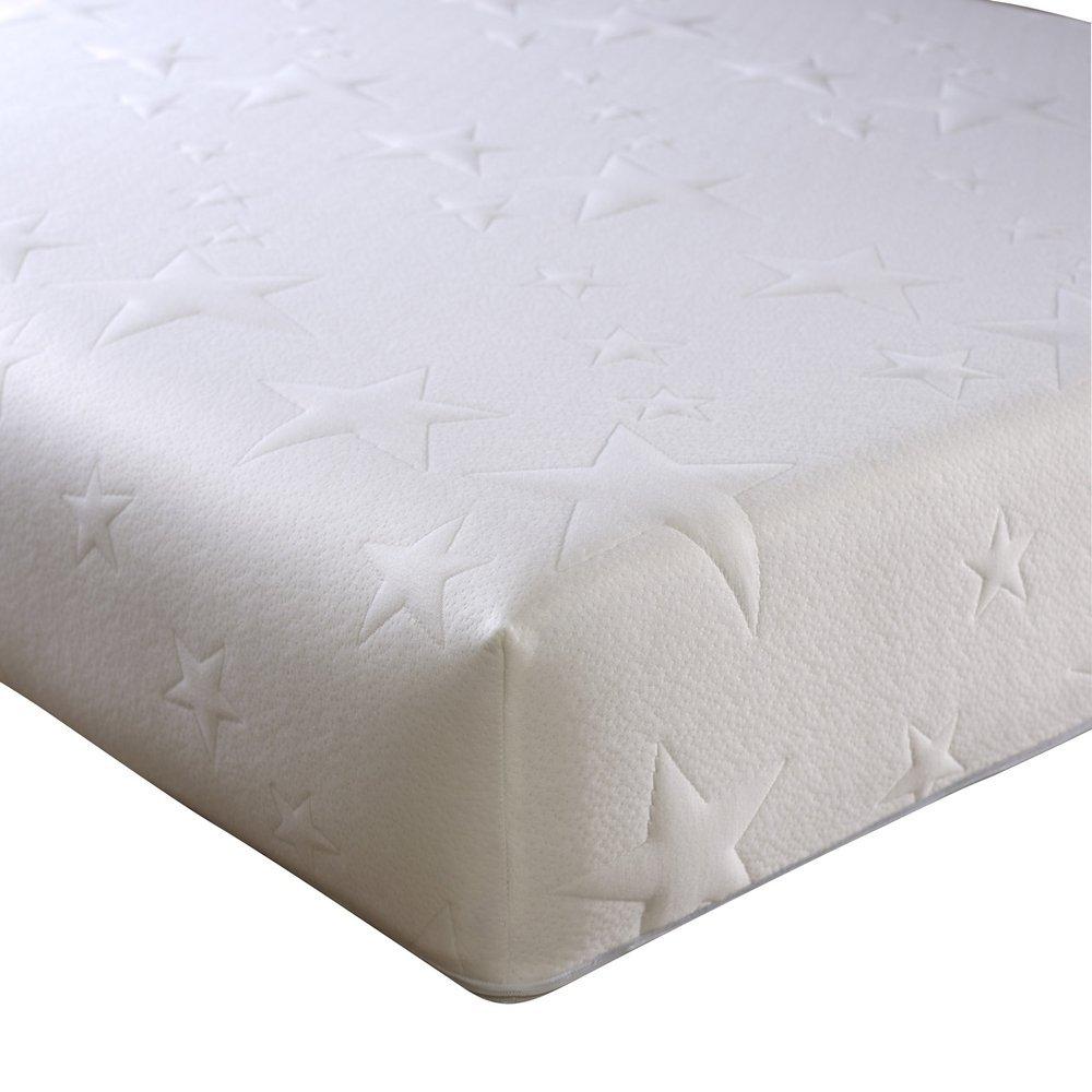 Happy Beds Ocean Gel Speicher und Cool Reflex-Schaum Matratze, verschiedene Größen, Weiß, Euro King (160 x 200 cm)