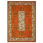 UNIBLISS 100% Cotton Comfort Rajasthani Jaipuri Traditional Single Bedsheet – Orange