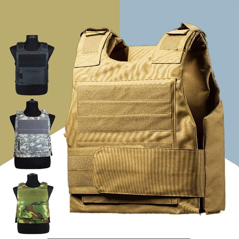 ZZYLHS Guardia De Seguridad Antipu/ñaladas Chaleco T/áctico con Dos Placa De Espuma Militares En Miniatura Chalecos De Caza Correas De Hombro Ajustables