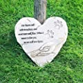 HM Pet Memorial Stone with Photo Frame, Pet Loss Gift, Large Paw Print Memorial Stone for Dog & Cat,