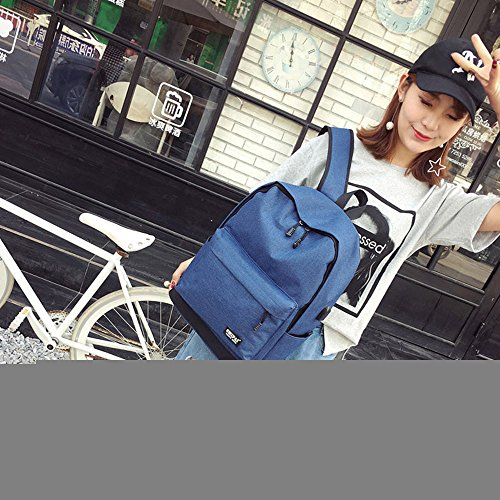 Shoulder Backpack Bag Fashion TianranRT Teenage Girl Women Boy Bags School Blue Zipper pnaBwqnz7
