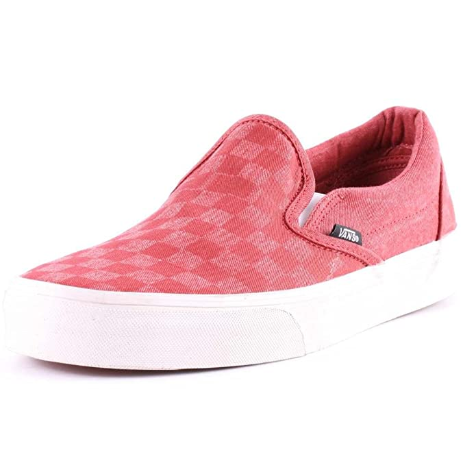 Vans Unisex-Erwachsene Classic Slip-On Low-top Rot Overwashed Tango Red