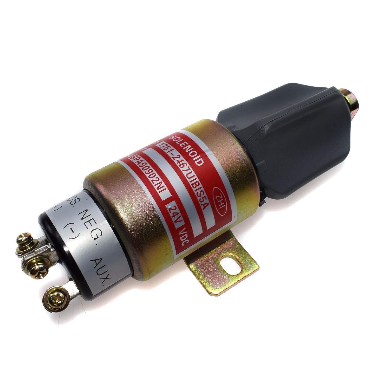 Fuel Shutoff Stop Solenoid 1700-2536 1751-24E7U1B1S5A NEW FOR Cummins Rejog4 Auto