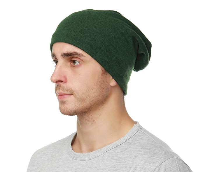 5bc5a716670 Edoneery Women Men Slouch Beanie Hat Cap Knit Skull Cap (Army Green ...