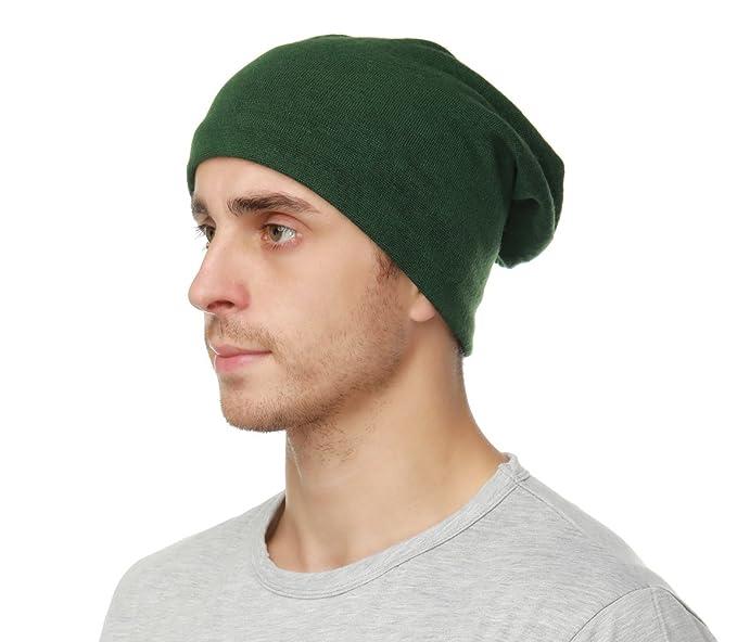 Edoneery Women Men Slouch Beanie Hat Cap Knit Skull Cap (Army Green ... 964caad896a