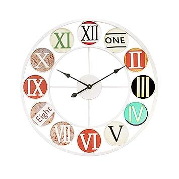 Dyfo 50cm Horloge Murale Vintage Horloge Murale Geante Horloge