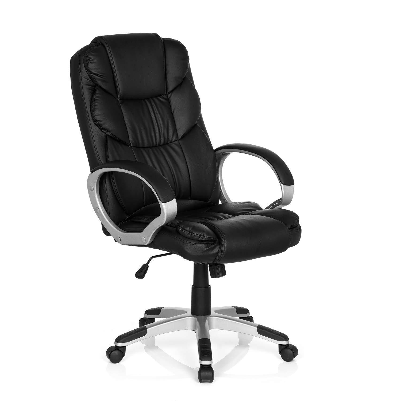 MyBuero XXL Chefsessel Chefsessel Chefsessel mit Armlehne Relax BY155 Kunstleder Schwarz Bürostuhl ergonomisch gepolstert 722300 9ef0ef