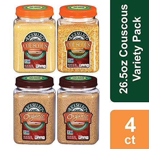 RiceSelect Couscous Variety Pack, 26.5 oz, 4-Container Set
