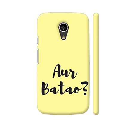 cheap for discount 072c7 568c7 Colorpur AUR Batao Printed Back Case Cover for Moto G2: Amazon.in ...