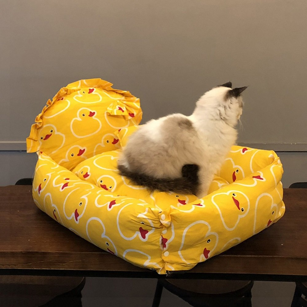 L YXINY Cat Sleeping Bag Cat Nest Teddy Kennel Princess Wind Pet Nest Deep Sleep Nest Dog Bed Seasons Removable And Washable (Size   L)