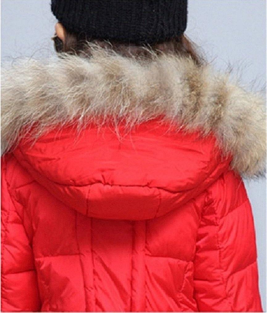 Ausom Fashion Girls Winter Mid-Length Stylish Thicken Cotton Jacket