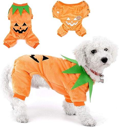 SELMAI Calabaza Halloween Disfraces para Gatos Originales Trajes ...