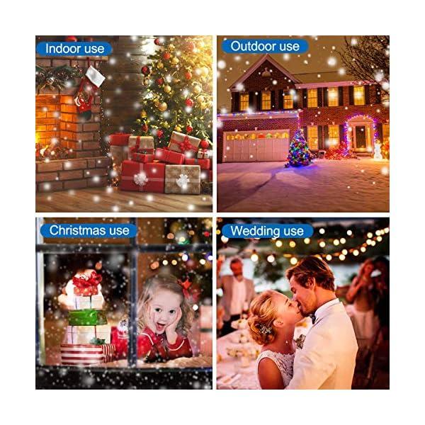 Proiettore Luci Natale LED, FOCHEA IP44 Faretti LED Illuminazione 16 Lenti Intercambiabili Esterno & Interno con Telecomando RF per Halloween, Natale, Matrimonio, Festa e Decorazioni da Giardino 6 spesavip