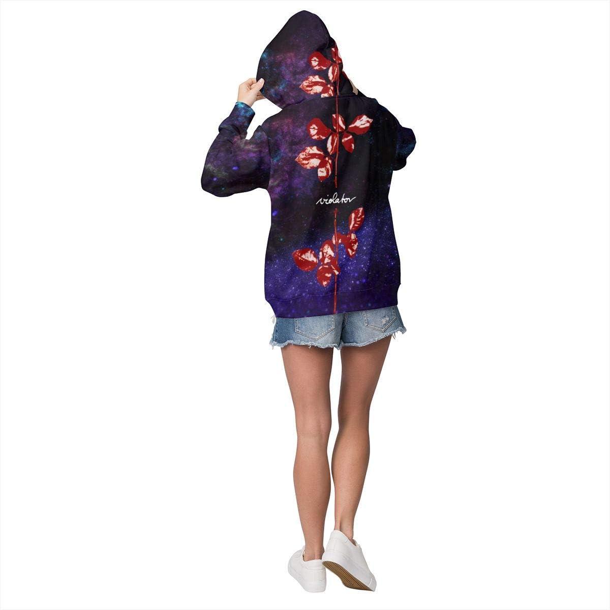 Depeche Mode Violator Comfort Rock Womens Plus Velvet Pullover Hooded Sweatshirt