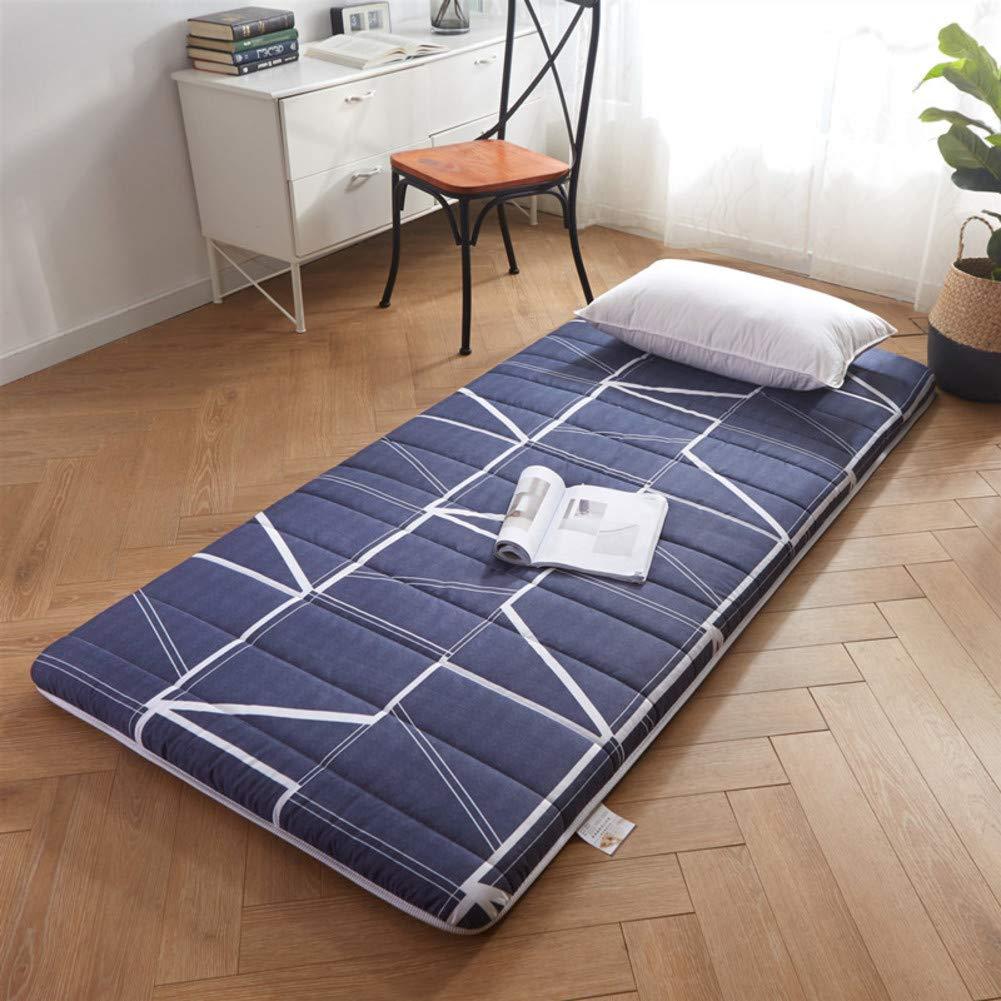 VIVOCCFuton Folding Sol Futon Tapis Matelas Respirabilit/é Tapis Rampant Dormir sur-Matelas Couverture Tatami Rouleau de lit Japonais pour Les Enfants Dorm-A 80x190cm 31x75inch