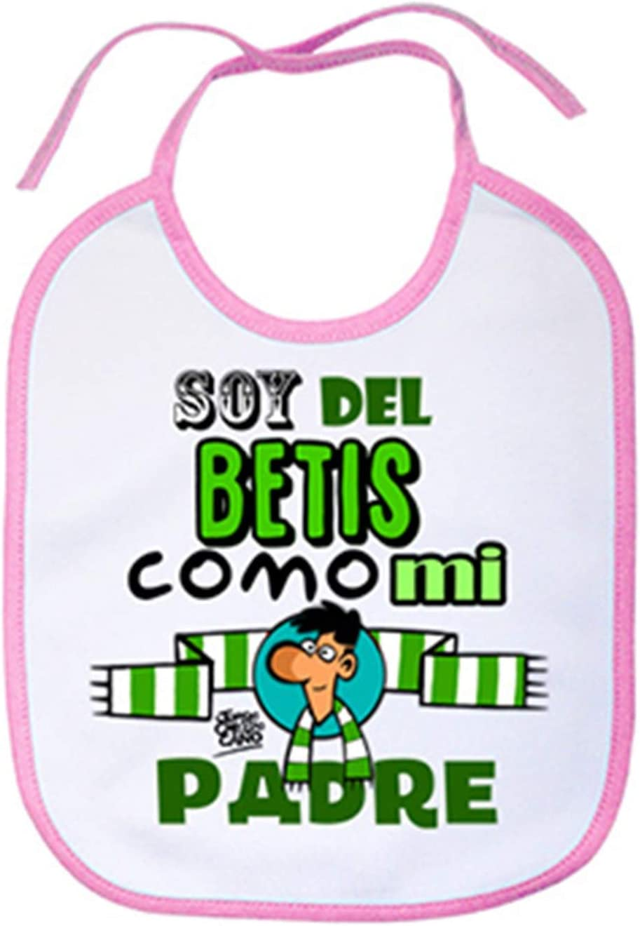 Babero Real Betis soy del Betis como mi padre Celeste